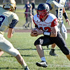 (Brad Davis/The Register-Herald) Oak Hill's Jarrett McFall carries the ball Saturday afternoon in Shady Spring.