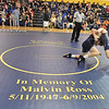 (Brad Davis/The Register-Herald) A special mat dedicated to the late Malvin Ross and Dix Manning Saturday afternoon at Shady Spring High School.