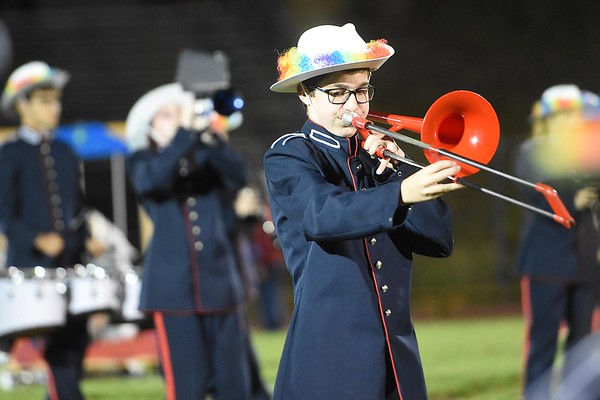 Independence band perform during game againt Liberty Friday night at Liberty High School.<br /> (Rick Barbero/The Register-Herald)