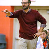 (Brad Davis/The Register-Herald) Summers County girls basketball coach Chad Meador instructs his team during a home game against Midland Trail November 30 in Hinton.