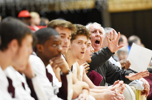 Woodrow Wilson assistant coach Dave Barksdale coaches during their seasons opener against Spring Valley Tuesday in Beckley. (Chris Jackson/The Register-Herald)