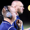 Meadow Birdge's head coach Dwayne Reichard  looks on during their football game against Meadow Bridge Friday in Meadow Bridge. (Chris Jackson/The Register-Herald)