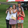 Spectators watching the First Tee Scramble held on the Old White course during The Greenbrier Classic.<br /> (Rick Barbero/The Register-herald)