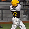 (Brad Davis/The Register-Herald) Miners batter Cody Callaway drives in a pair of runs during a late rally against Butler Wednesday night at Linda K. Epling Stadium.