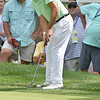 (Brad Davis/The Register-Herald) Kelly Kraft putts for birdie on #11 during third round Greenbrier Classic action Saturday afternoon in White Sulphur Springs.