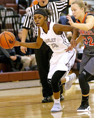 (Brad Davis/The Register-Herald) Woodrow Wilson's Kaliyah Creasey against Summers County December 7 in Beckley.