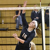 (Brad Davis/The Register-Herald) Nicholas County's Kate Belmont during a volleyball match against PikeView at Liberty High School October 11.