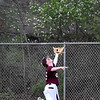 (Brad Davis/The Register-Herald) Woodrow Wilson left fielder Austin Amtower can only reach up as a deep fly ball goes over his head and to the fence off the bat of St. Albans' Alex Hodges during Flying Eagles' loss to the Red Dragons Friday evening in Beckley.