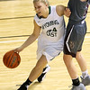 (Brad Davis/The Register-Herald) Wyoming East's Kelsey Green drives against George Washington during Big Atlantic Classic action Wednesday night at the Beckley-Raleigh County Convention Center.