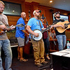 (Brad Davis/The Register-Herald) The Half Bad Bluegrass Band performs inside the Bunkers Bar & Grill at Glade Springs Friday evening, kicking off the resort's 4th of July Celebration weekend with events like a golf cart parade this evening and fireworks tonight at 9:30, including events on Sunday as well.
