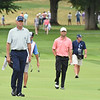 Davis Love lll walks up the 17th fairway during the first round of The Greenbrier Classic.<br /> (Rick Barbero/The Register-Herald.com