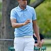 (Brad Davis/The Register-Herald) Tony Finau waves to fans after finishing up on #10 during third round Greenbrier Classic action Saturday afternoon in White Sulphur Springs.