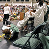 (Brad Davis/The Register-Herald) A graduate goes down as he stages a tripping prank during Wyoming East High School's 2017 Commencement Ceremony June 4 in New Richmond.