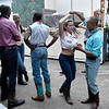 (Brad Davis/The Register-Herald) Performers mingle as they get ready to rehearse scenes from Footloose June 15 at Grandview Park's Cliffside Amphitheatre.