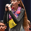 (Brad Davis/The Register-Herald) Raleigh County's Delaney Mitchell takes a turn during the 2017 Gazette-Mail Regional Spelling Bee Saturday afternoon at Capital High School in Charleston.