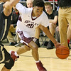 (Brad Davis/The Register-Herald) Woodrow Wilson's Mikey Penn speeds to the basket against University during Big Atlantic Classic action Saturday night at the Beckley-Raleigh County Convention Center.