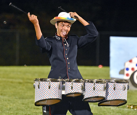 (Brad Davis/The Register-Herald) The Independence marching band performs at halftime Friday night in Coal City.