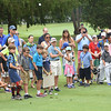 Lee Trevino, Golf Professional Emeritus, The Greenbrier, held a youth clinic during the all day Youth Day at The Greenbrier Classic. <br /> (Rick Barbero/The Register-Herald)