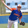 (Brad Davis/The Register-Herald) Princeton starting pitcher Robert Burnette delivers against Independence during the Jeff Treadway Memorial Wooden Bat Tournament Saturday afternoon in Coal City.