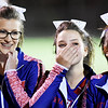 Midland Trail cheerleaders prior to kickoff of their football game against Oak Hill Friday in Hico. (Chris Jackson/The Register-Herald)