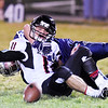 Meadow Bridge's Nicholas White (23) tackles Webster County's Reece Nutter (11) on a botched extra point attempt during their high school football game Friday in Meadow Bridge. (Chris Jackson/The Register-Herald)