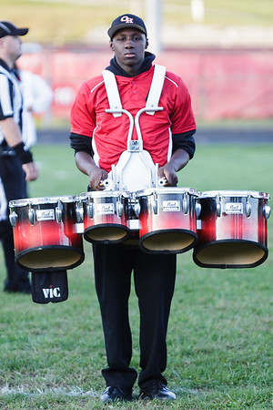An Oak Hill drummer keeps time for the band. Chad Foreman for the Register-Herald