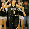 (Brad Davis/The Register-Herald) Westside's Hannah Toler reacts with a fist pump after hitting crucial three-pointer late in the Renegades' sectional championship win over county rival and defending state champion Wyoming East Wednesday night in Clear Fork.