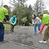 (Brad Davis/The Register-Herald) Participants Hillary Jones of Fayetteville, back left, and Leah Coleman of Pineville, back right, follow the lead of instructors Joe Jett, left, and Kathaleen Mooney as they try some Tai Chi during Active Southern West Virginia's National Park Prescriptions Day event at Grandview Park Sunday afternoon.