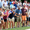 Spectators view from the 8th hole during the second round of The Greenbrier Classic.<br /> (Rick Barbero/The Register-Herald)