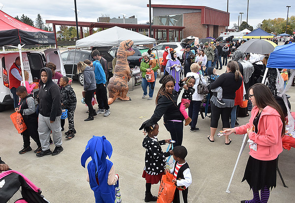 (Brad Davis/The Register-Herald) The scene during Tailgate Halloween Saturday afternoon atop Beckley's Intermodal Gateway.