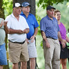 Spectators watch on the No. 17 green  during the championship round of the annual BNI Tournament Monday at The Resort at Glade Springs. (Chris Jackson/The Register-Herald)