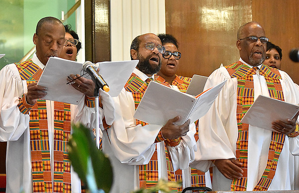 (Brad Davis/The Register-Herald) Black History Month celebration at Central Baptist Church Sunday afternoon.