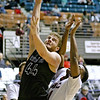 (Brad Davis/The Register-Herald) Independence's Dylan Dickens drives to the basket as Greater Beckley Christian's Caleb Clark defends Friday night at the Beckley-Raleigh County Convention Center.