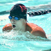 (Brad Davis/The Register-Herald) WV Pirhanas (Beckley) swimmer Tyler Roberts competes in a breast stroke heat race during the final day of the YMCA West Virginia Long Course Championships at New River Park Pool Sunday afternoon.