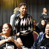 Krystal Carey, from left, Vickie Goode, and Marlyn Dobson, all from Beckley, mingle during the 31st annual Spirit of Beckley Award at the Beckley-Raleigh County Convention Center in Beckley on Monday. (Chris Jackson/The Register-Herald)