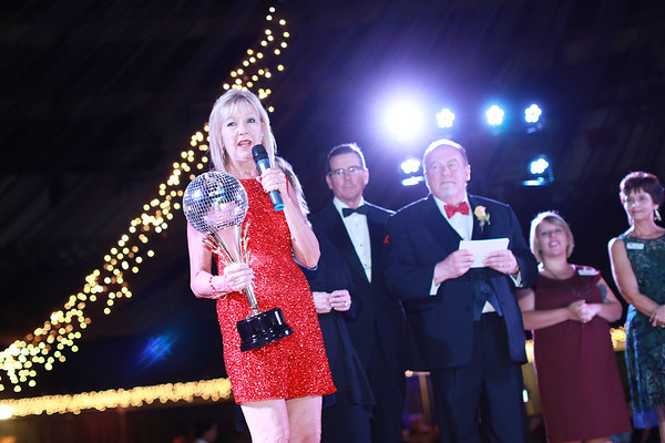 Margaret Anne O'Neal, former Executive Director of the United Way of Souther West Virginia, speaks during the 6th annual United Way of Southern West Virginia's Dancing With the Stars at the Beckley-Raleigh County Convention Center in Beckley on Friday. (Chris Jackson/The Register-Herald)