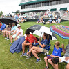 Spectators watching play from the 18th green during the first round of The Greenbrier Classic.<br /> (Rick Barbero/The Register-Herald.com