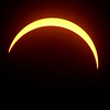 Solar eclipse peak peaked at 2:36<br /> (Rick Barbero/The Register-Herald)