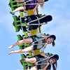 (Brad Davis/The Register-Herald) Young thrillseekers scream as they tumble about at high speeds on a ride called the Tango during the State Fair Firday afternoon in Fairlea.