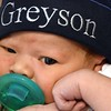 John and Erica Jones newly born son Greyson Xavier Jones.<br /> (Rick Barbero/The Register-Herald)