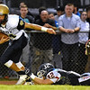 (Brad Davis/The Register-Herald) Shady Spring's Isaiah Valentine against Independence September 19 in Coal City.