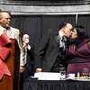 Bishop Fred T. Simms kisses his wife Marilyn Staple-Simms after receiving the Spirit of Beckley Award during the 31st annual Spirit of Beckley Award at the Beckley-Raleigh County Convention Center in Beckley on Monday. (Chris Jackson/The Register-Herald)