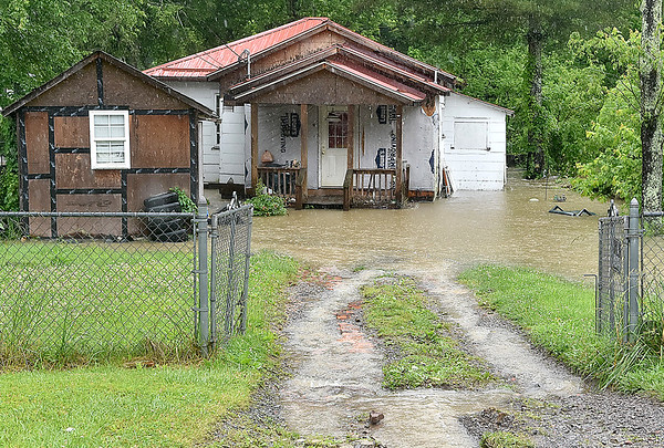 (Brad Davis/The Register-Herald) A residence on Scarbro Loop Road around 1:30 p.m. Monday afternoon.