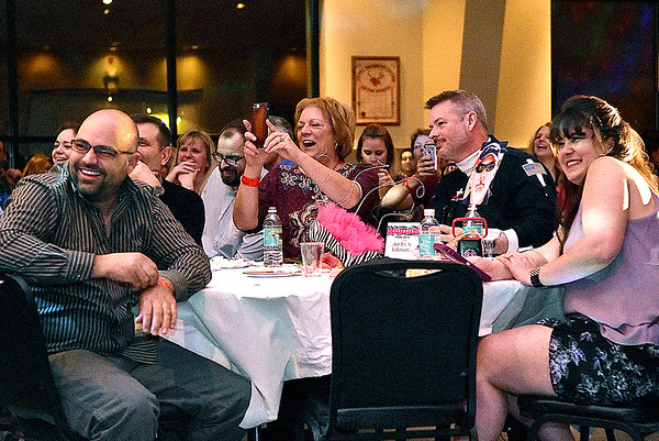 (Brad Davis/The Register-Herald) Hunks in Heels fundraising event for the Women's Resource Center Friday night at the Beckley Moose Lodge.