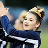 A Nicholas County cheerleader cheers on her side during their game against Shady Spring Friday in Shady Spring.  (Chris Jackson/The Register-Herald)