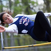 Independence's Hannah Adams competes in the high jump during the Coalfield Conference Track meet Tuesday in Coal City. (Chris Jackson/The Register-Herald)