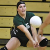 (Brad Davis/The Register-Herald) Fayetteville's Sam Holbrook during a volleyball match at Liberty High School October 11.