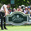 Bubba Watson hits his tee shot on the 9th hole during the second round of The Greenbrier Classic.<br /> (Rick Barbero/The Register-Herald.com