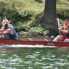 "(Brad Davis/The Register-Herald) The rule of ""rubbin's racin'"" plays out on the Greenbrier as mens doubles competitors duke it out during the Alderson Canoe Races Sunday afternoon."