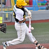(Brad Davis/The Register-Herald) West Virginia outfielder Nick Delgado makes contact during the Miners' home-opening loss to Butler Thursday night at Linda K. Epling Stadium.